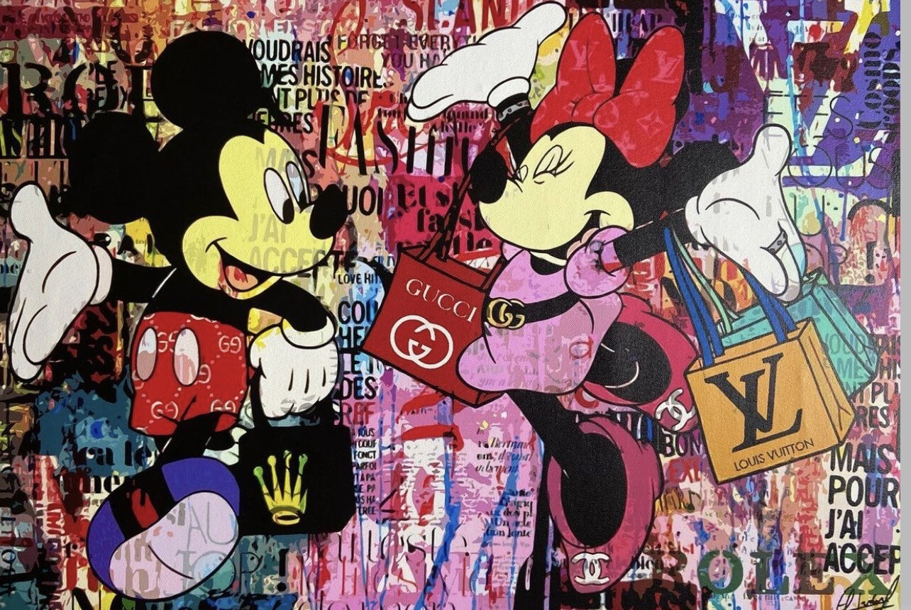 Ricardo A - Mickey & Minnie Mouse / Love You - High Quality Limitied Edition Of 10 Print