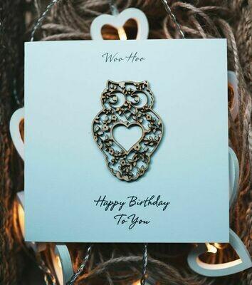 Owl Detail Happy Birthday