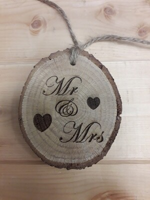 Mr & Mrs Rustic Disc