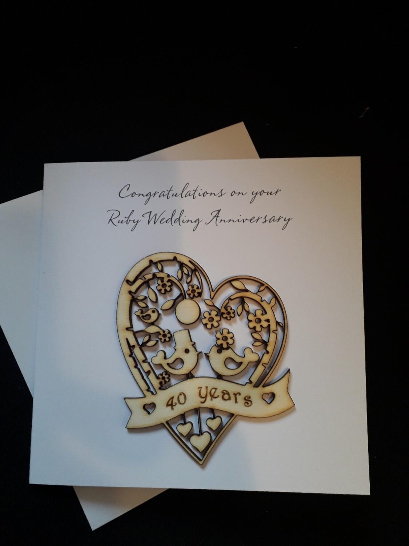 Ruby Wedding 40th Anniversary