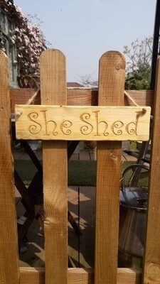 She Shed Hanging Sign