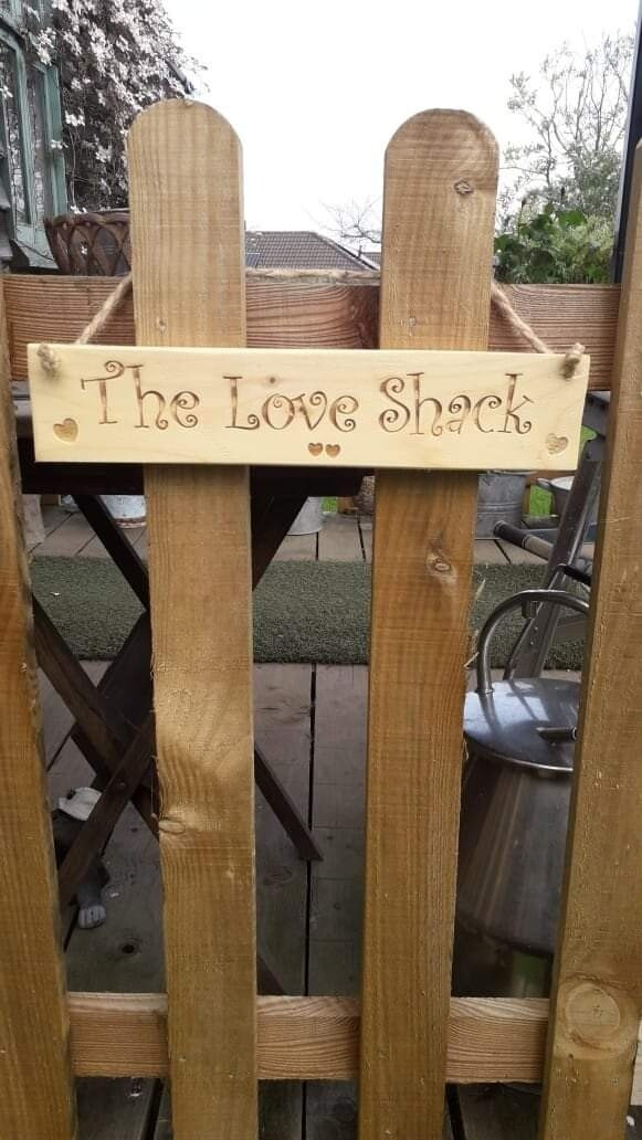 The Love Shack Hanging Sign