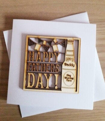 Fathers Day. No.1 Daddy / Any Wording