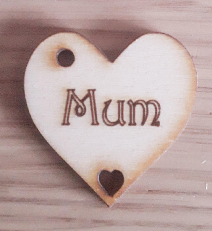 Mum Hearts  x 10