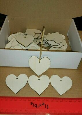 Wooden Heart Shape Gift Tags