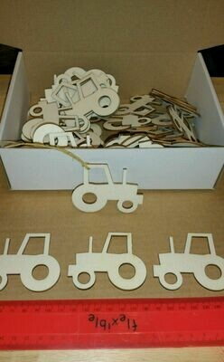 Wooden Tractor Shape Gift Tags