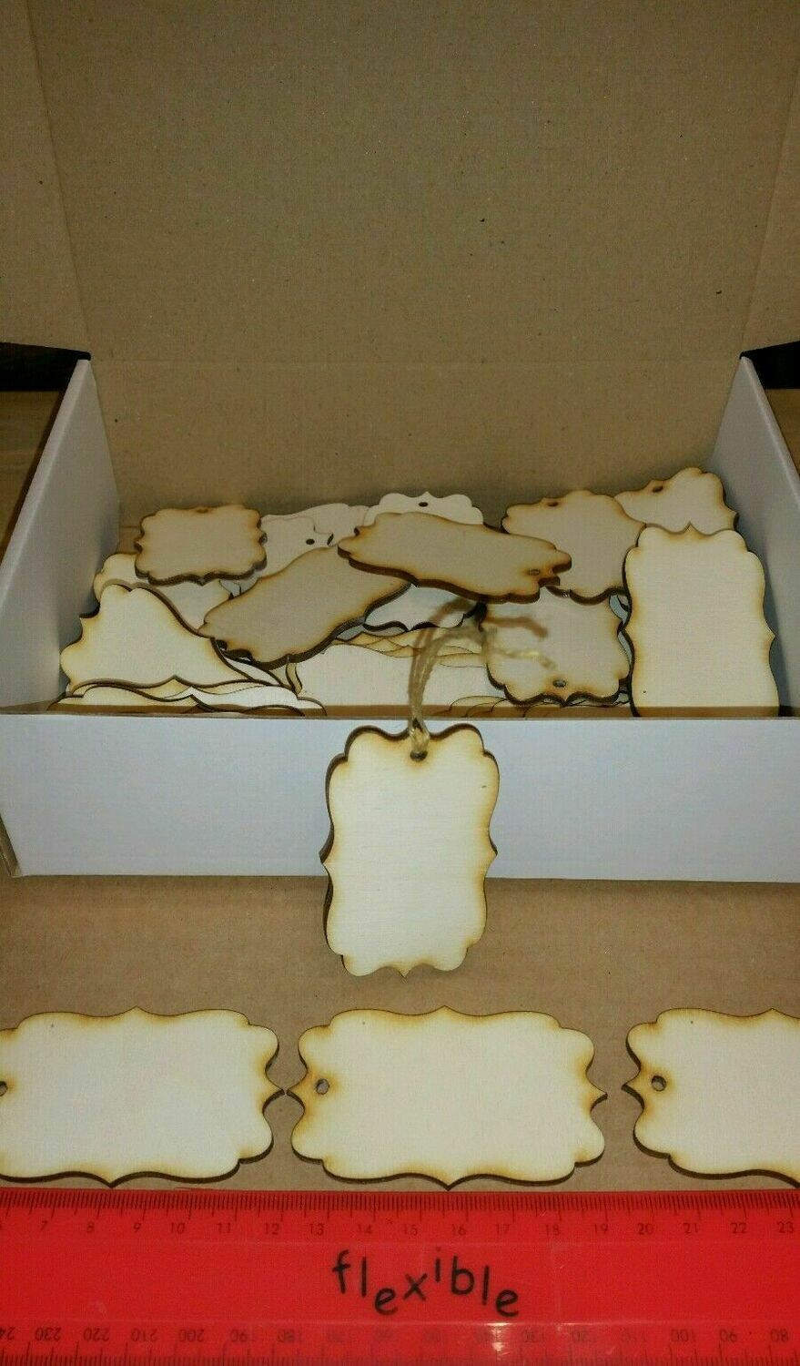 Wooden Vintage Shape Gift Tags x 40