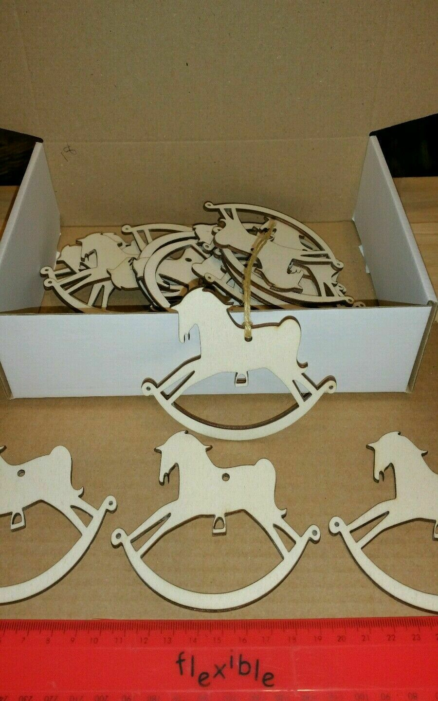 Wooden Rocking Horse Shape Gift Tags x 18