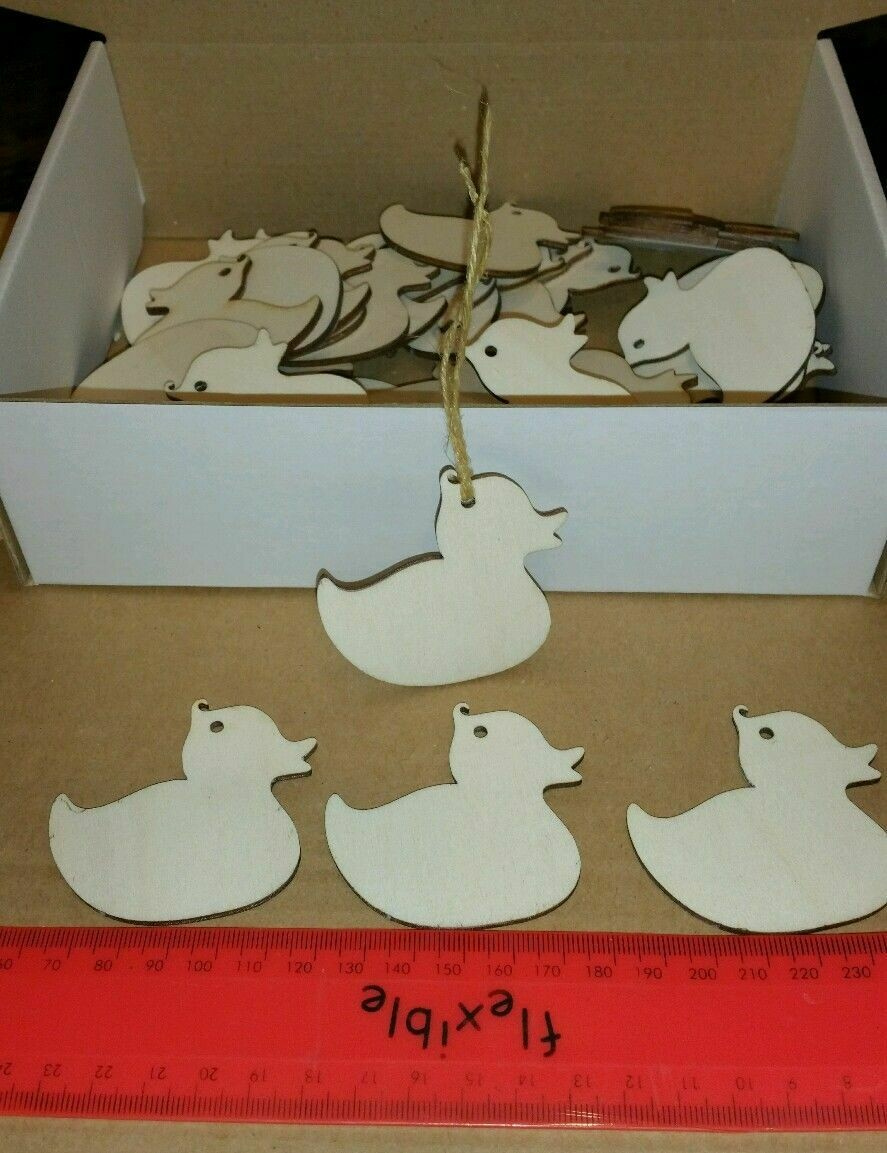 Wooden Duck Shape Gift Tags x 18
