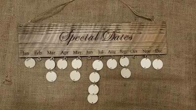 Special Dates Calendar