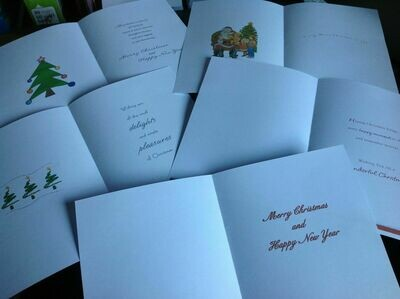 Christmas Card Inserts x 20