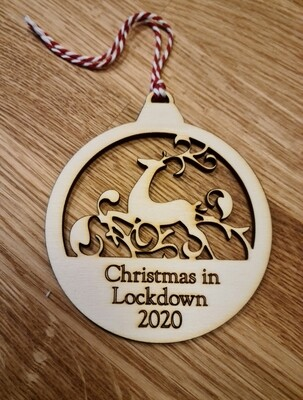 Lockdown 2020 hanging decoration