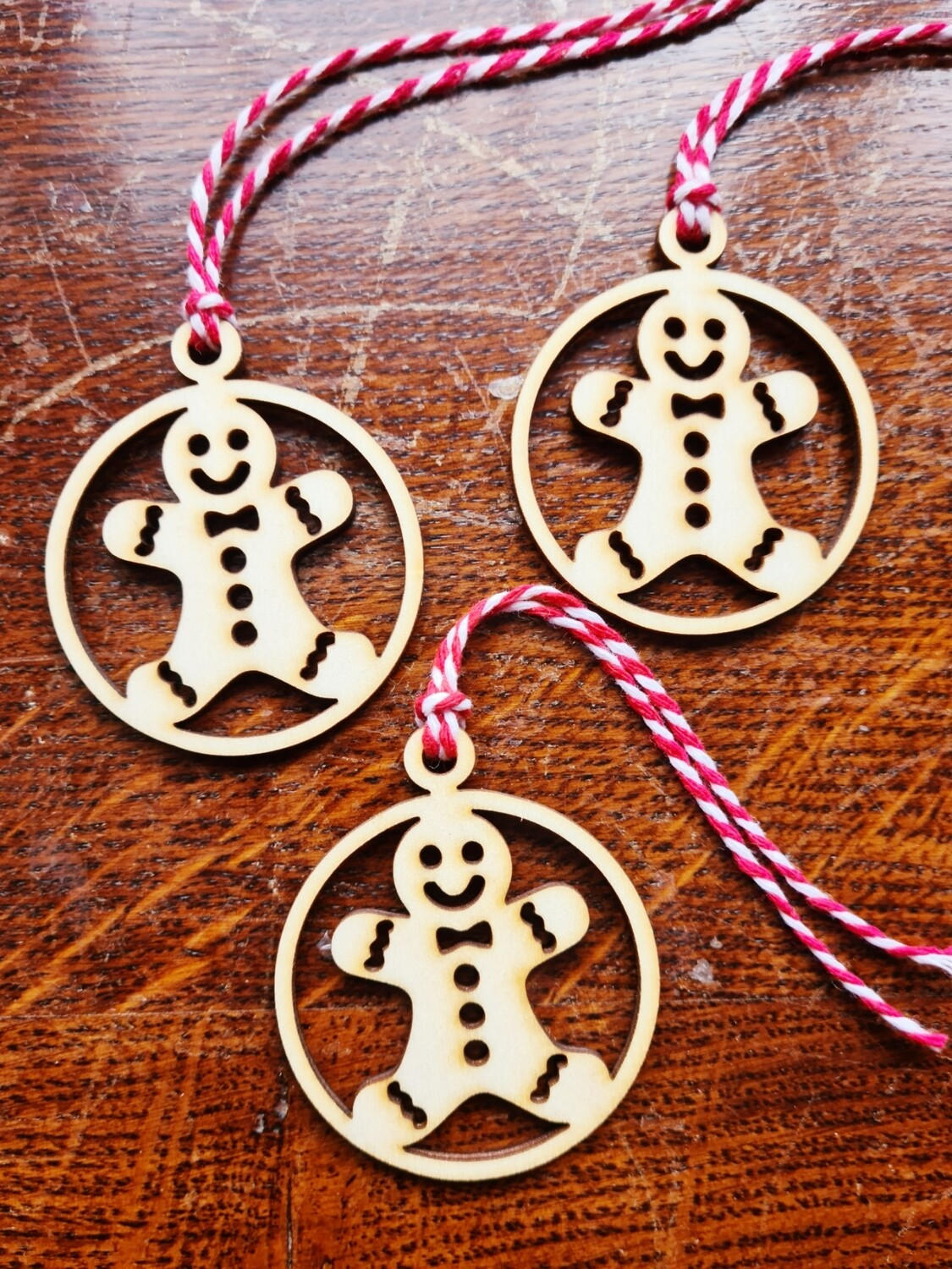 3 Ginger Bread Hanging Decorations