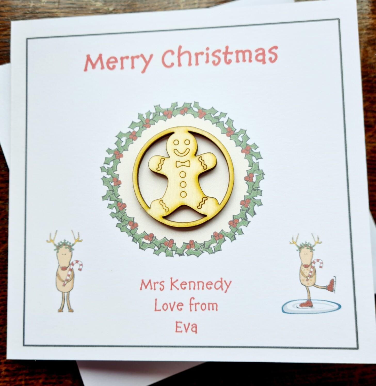 Teacher Merry Christmas Card