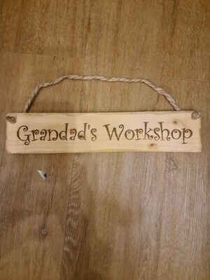 Dads Shed Hanging Sign