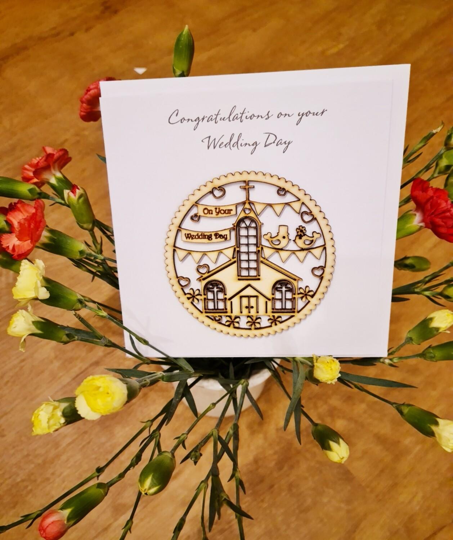 Mr & Mrs Wedding Church Card