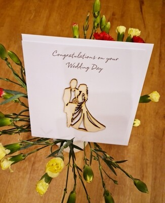 Mr & Mrs Wedding Couple Card