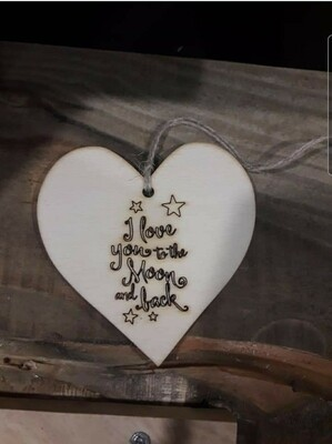 Love you to the Moon & Back Heart Gift Tag