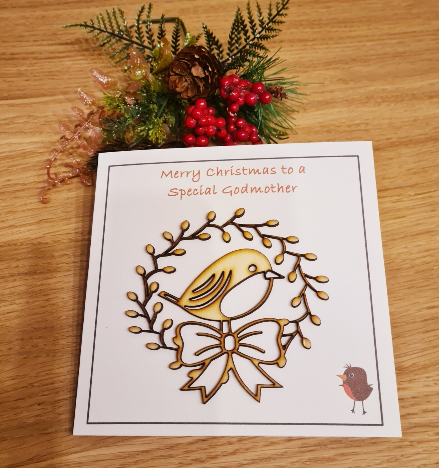 Special Godmother Christmas Card