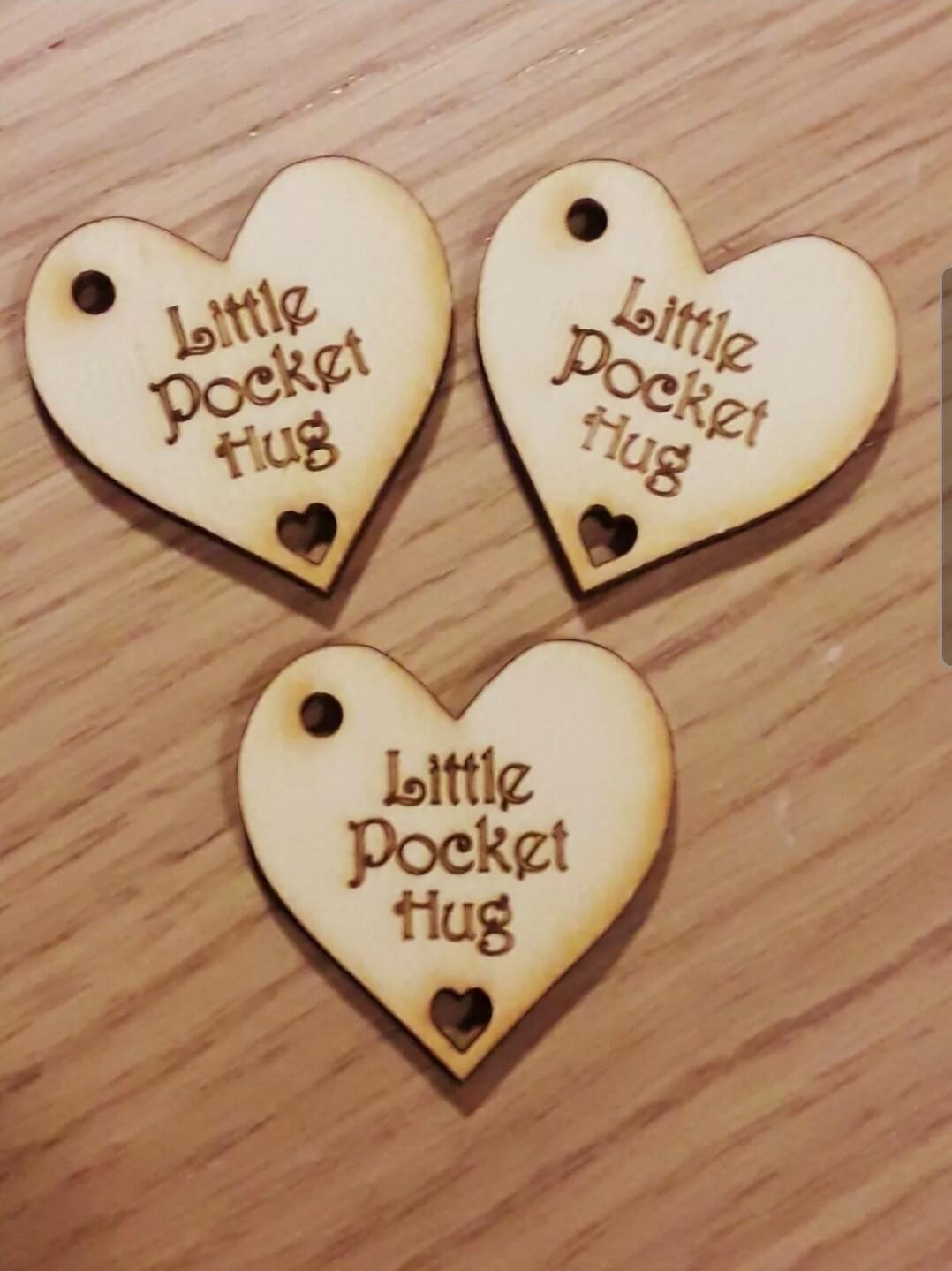 Little Pocket Hug with hole x 10