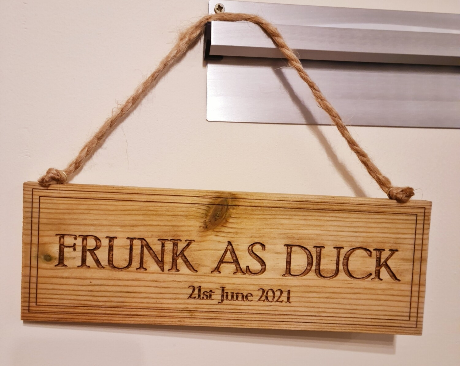 Frunk as Duck Hanging Sign