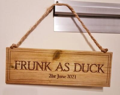 Frunk as Duck Hanging Sign
