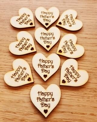 Happy Father's Day Pocket Hug  x 10