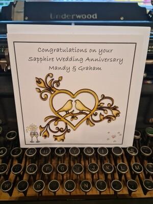 Sapphire Wedding Personalised