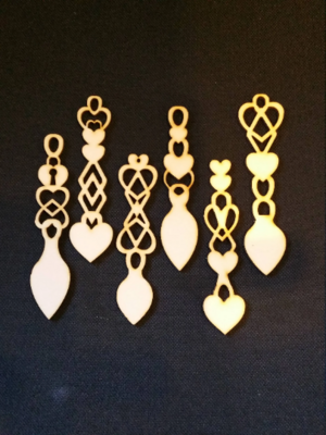 100 Love Spoons Mixed Designs