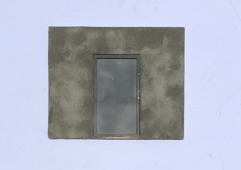 Concrete Rear Entrance Wall