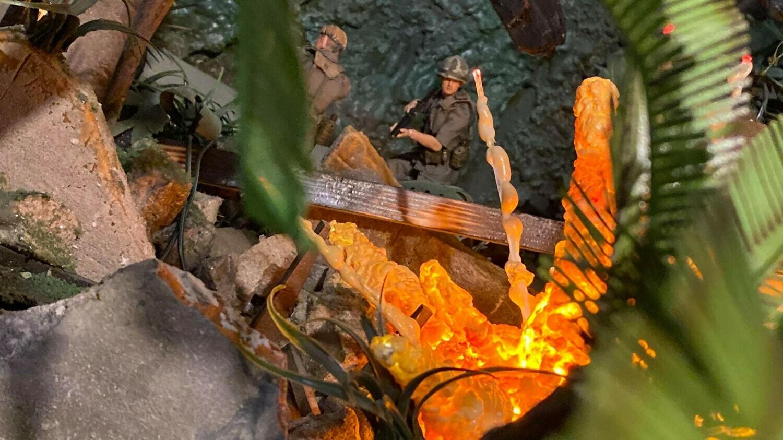 1:12 Scale Action Figure Combat Diorama, War Ruin Display