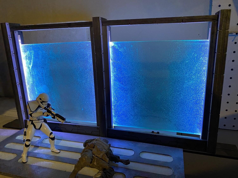 1:12 Action Figure Sci-fi Diorama, Force field Effect