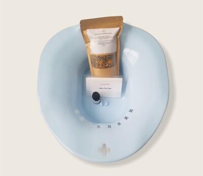 NaTuralMee Steam Set (Spa Seat, 3oz steam herbs, lavender essential oil & 2pc foot detox pads