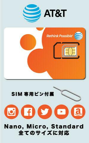 AT&T SIMカード(移行特別キャンペーン、3/31/2021までにお申し込みで無料)
