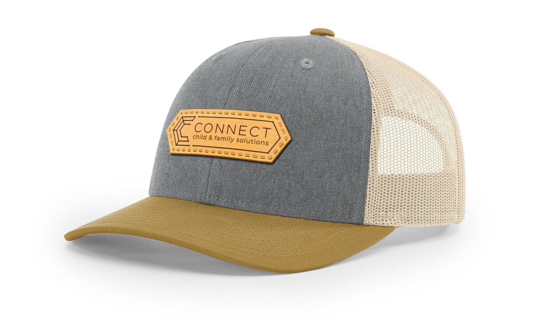 Tri Color Leather Patch Hat