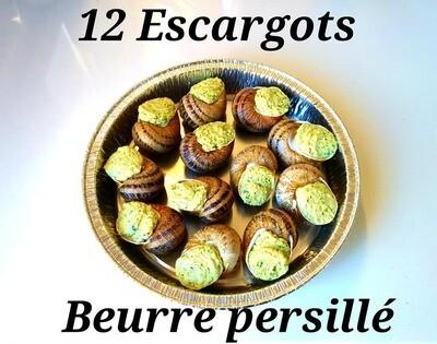 12 ESCARGOTS AU BEURRE PERSILLE