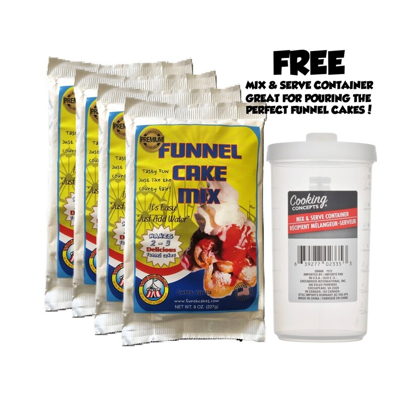 Funohcakes' Funnel Cake Mix - 4 Bag package