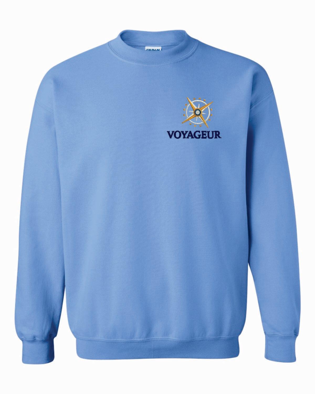 Voyageur Academy Crewneck Sweatshirt Embroidered Logo