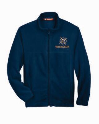 Voyageur Academy Full Zip Fleece Jacket Embroidered Logo