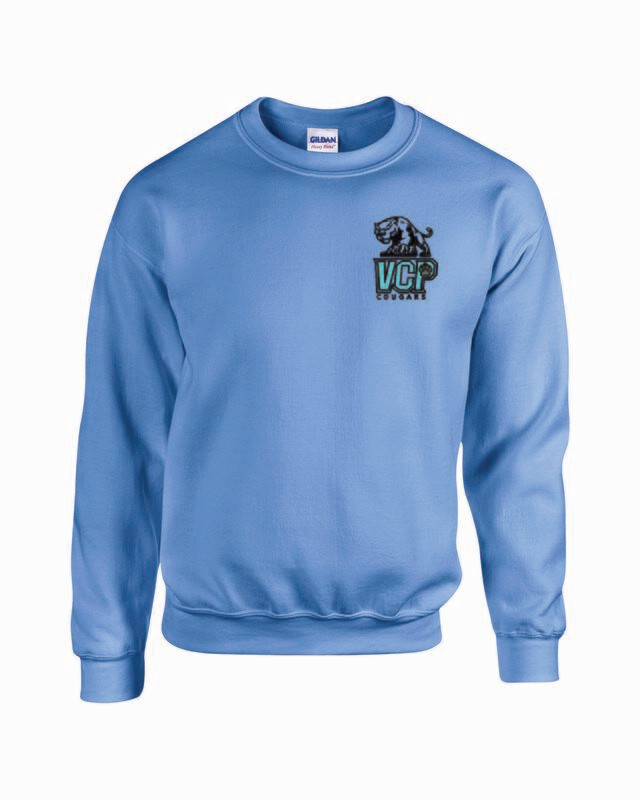 VCP Cougars Crewneck Sweatshirt Embroidered Logo