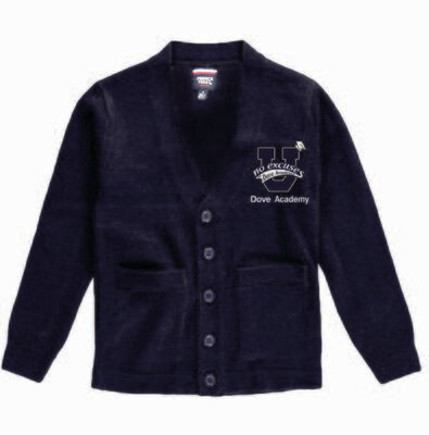 Dove Cardigan Sweater With Embroidered Dove Academy Logo