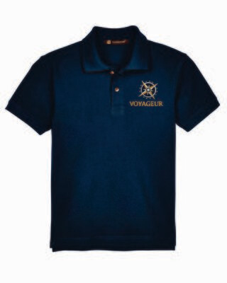 Voyageur Academy Short Sleeve Polo Embroidered Logo
