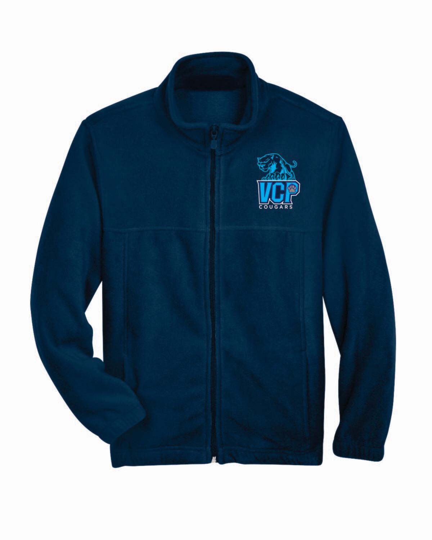 VCP College Prep Full Zip Fleece Jacket Embroidered Logo