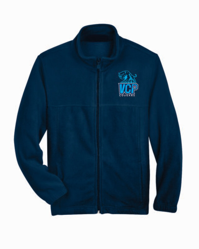 VCP College Prep Full Zip Fleece Jacket Embroidered Logo