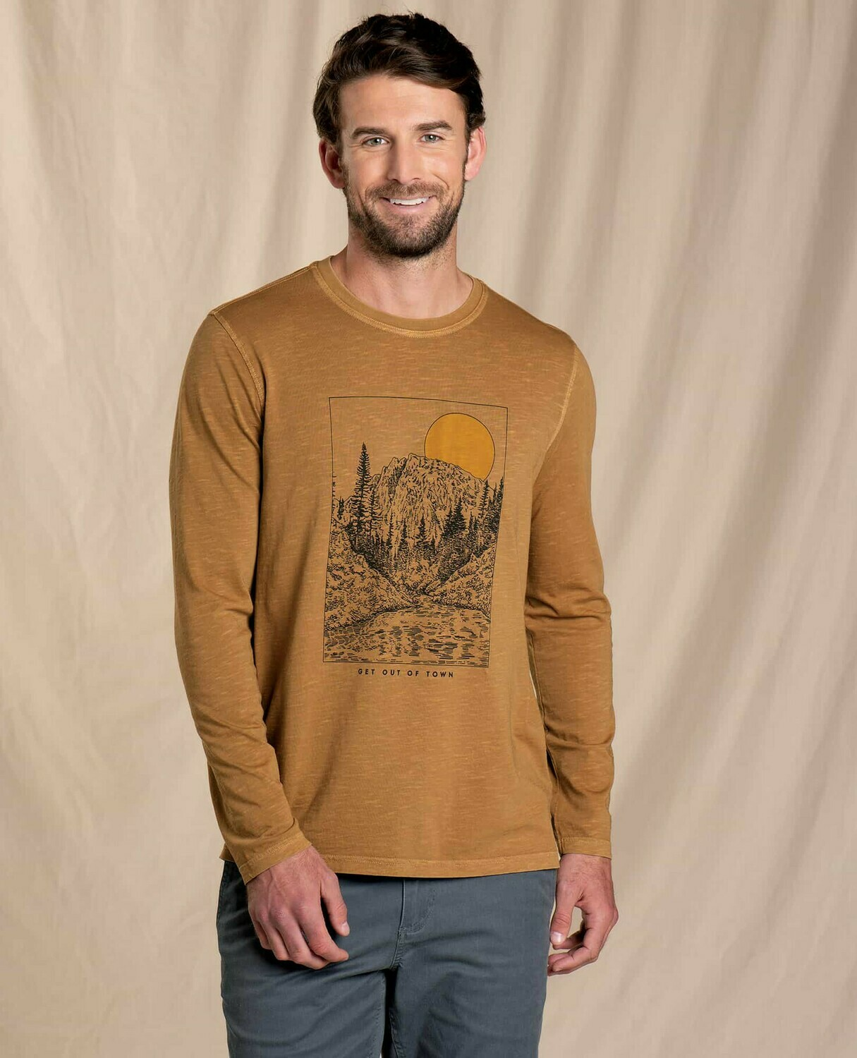 Toad and Co M's Get Out of Town Long Sleeve Tee