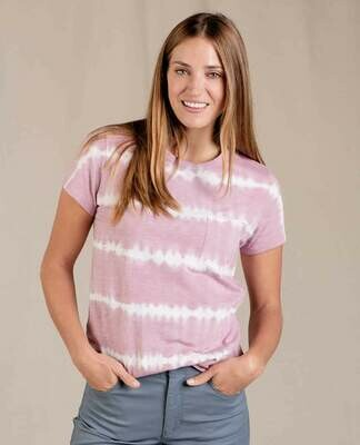 Toad&Co W's tie dye tee pink/cream