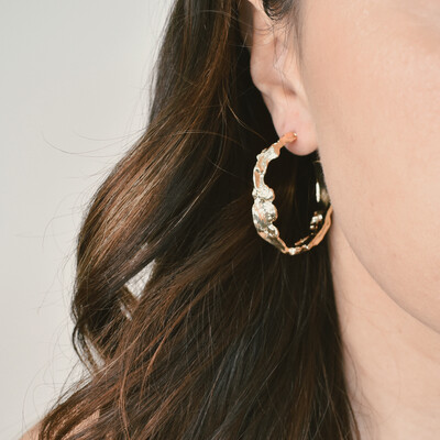 Gold Melt Hoops
