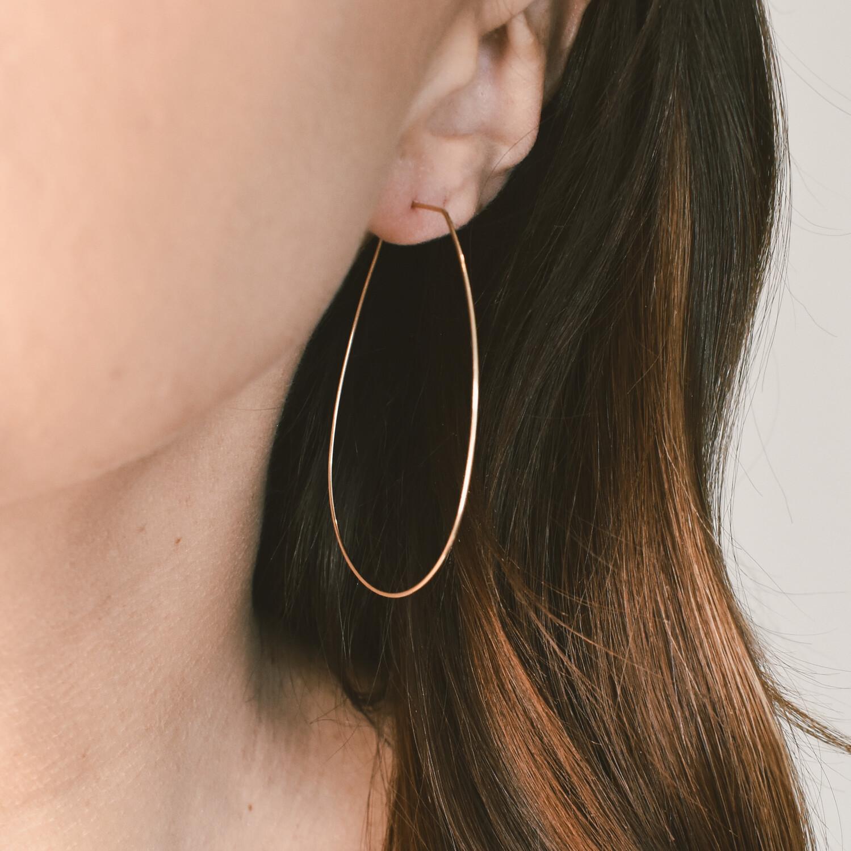Teardrop Gold Hoop Earring