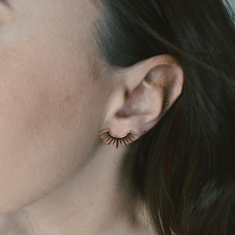 Eyelash Stud Earrings