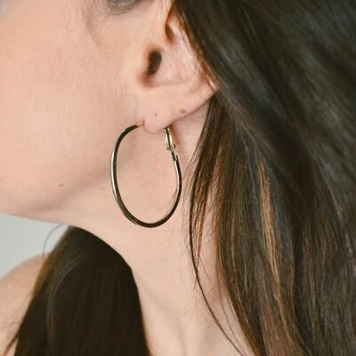 Oval Hoop Earring